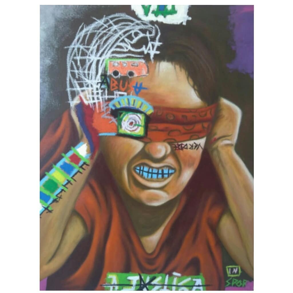 Arcano VIII – A justiaOleo e pastel oleoso sobre tela.paintings contemporary pintura justia…