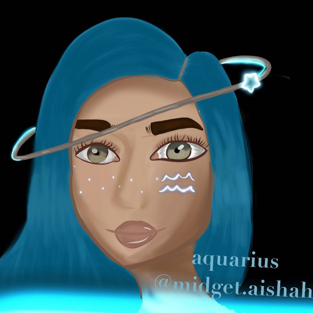 my new horoscope seriesim going to draw each sign as a personhope you like itthis is Aquarius …